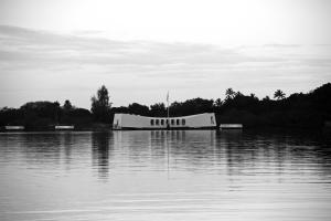 USS Arizona at dawn