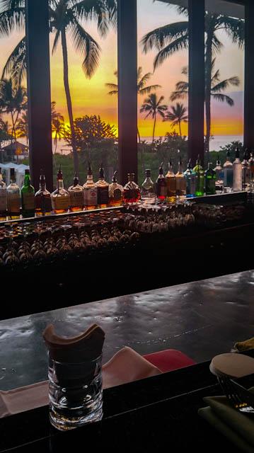 Hotel Bar at sunset